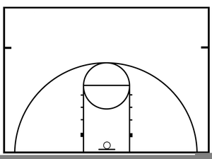 free basketball court clipart free images at clker com vector rh clker com