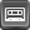 Free Grey Button Icons Cassette Image