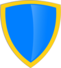 Blue Gold Shield Clip Art