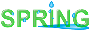 Spring With Raindrops Image