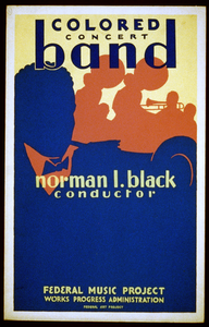 Colored Concert Band, Norman L. Black, Conductor Image