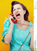 Free Woman Screaming Clipart Image