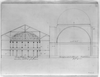 [surrey Chapel (st. Georges Fields, England) And Independent Church (baltimore, Md.). Transverse Sectional Elevations] Image