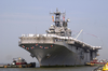 The Amphibious Assault Ship Uss Nassau (lha 4) Returns To Its Homeport Of Naval Station Norfolk Image
