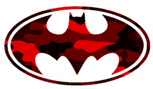 Batman Logo Red Cut Image