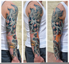 Automotive Tattoo Sleeve Image