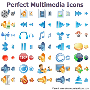 Perfect Multimedia Icons Image