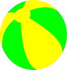 Strandball Beachball Ball Bright Green And Yellow Image