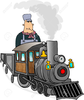 Train Engineer Clipart Image