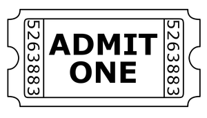 Free Clipart Admit One Ticket | Free Images at Clker.com ...