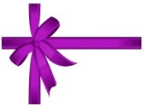 purple ribbon free images at clkercom vector clip art