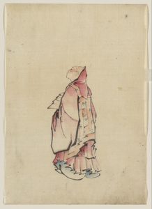 [side View Of A Monk, Full-length Portrait, Facing Left, Wearing Gown With Hood] Image