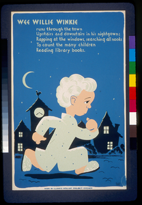 Wee Willie Winkie Runs Through The Town ... To Count The Many Children Reading Library Books  / Cleo Sara. Image