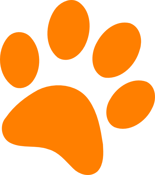 orange paw print clip art at clker com vector clip art online  royalty free   public domain Wildcat Logo Clip Art Wildcat Claw Clip Art