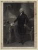George Washington Standing Beside Desk Image