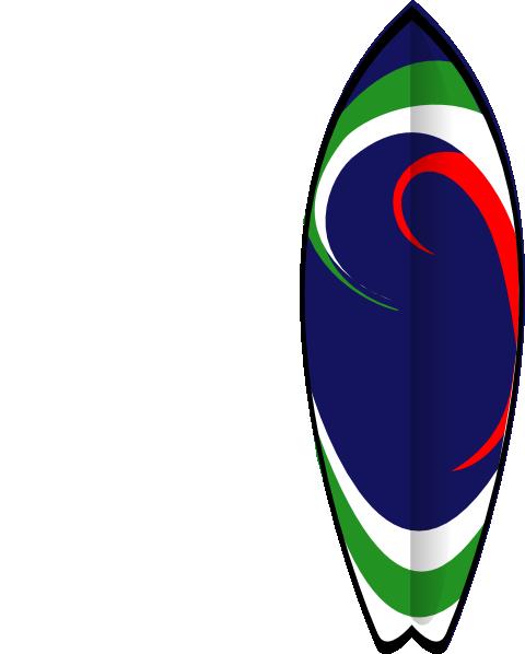 Surfboard Clip Art at Clker.com - 36.5KB