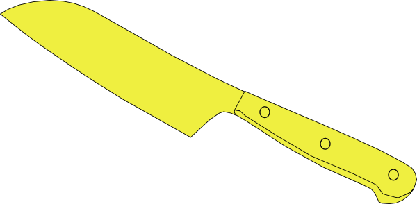 Kitchen Knife Clip Art ~ Chef knife yellow clip art at clker vector