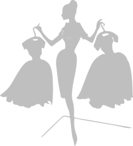 Woman With Dresses Clip Art