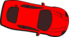 Red Car - Top View - 350 Clip Art