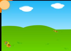 cartoon landscape sans tree and gradient clip art at clker