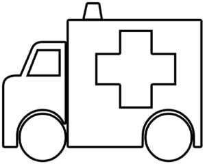 Ambulance Outline Clip Art