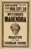 Mysterious Mahendra Master Of The Human Mind. Clip Art