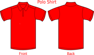 Polo Shirt Red Clip Art