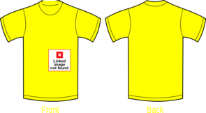 Plain Yellow Shirt Clip Art