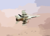 F/a-18 On Combat Mission Over Afghanistan. Clip Art