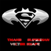 Batman Superman Combo Shape By Retoucher Clip Art