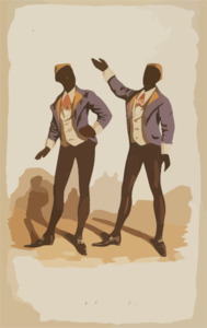 Negro Double Song & Dance Clip Art