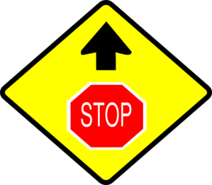 Yellow Stop Sign Clip Art