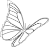 Butterfly Flying Clip Art
