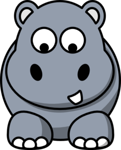 Hippo Looking Down Clip Art