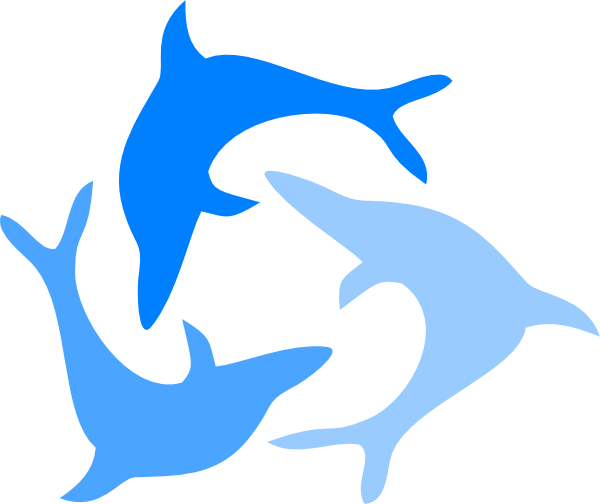 Light Blue Dolphin Clip Art at Clker.com - vector clip art ...