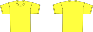 Yellow Plain Shirt Template Clip Art