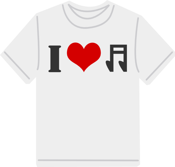 i love music pictures images. I Love Music Tshirt clip art