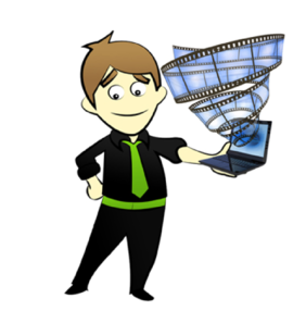 Character With Laptop Clip Art