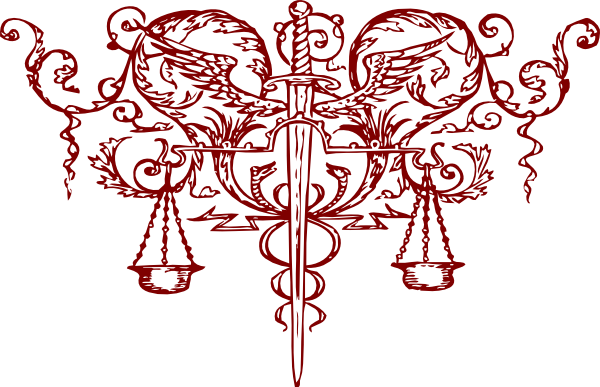 Red Sword And Scales Of Justice Clip Art At