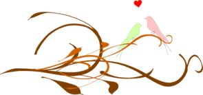 Love Birds On A Branch Clip Art