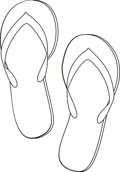 Flip Flops Outline Clip Art at Clker.com - vector clip art ...