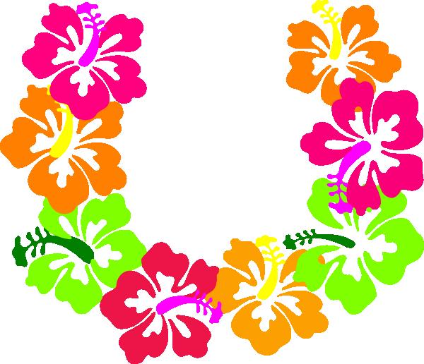 hibiscus flowers lei clip art at clker com vector clip art online rh clker com May Flowers Clip Art Luau Flowers Clip Art
