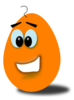Orange Comic Egg Clip Art