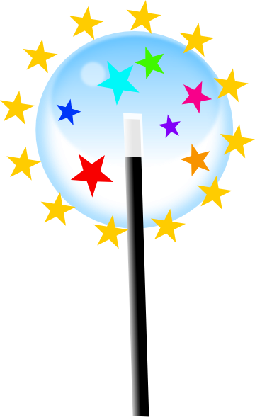 small magic wand clip art at clker com vector clip art online rh clker com magic hat and wand clip art blue magic wand clipart