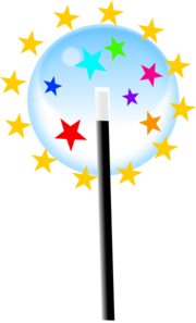 Small Magic Wand Clip Art