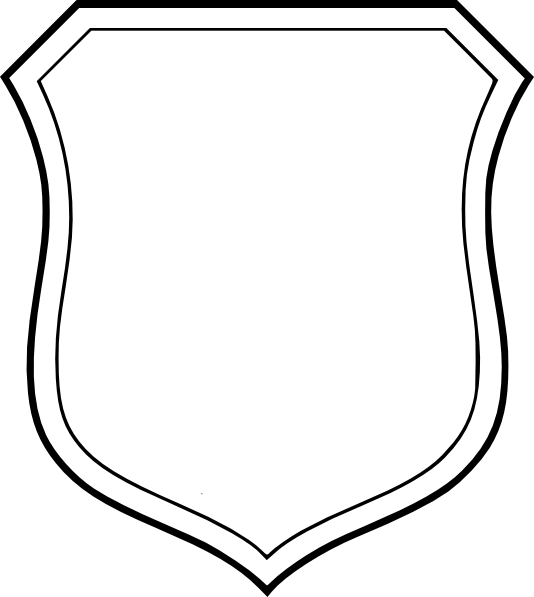 Blank white shield clip art at vector clip art for Blank shield template printable