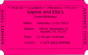 Ticket Invitation Clip Art