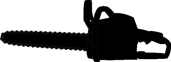 Chainsaw Black Outline Clip Art At Clker Com Vector Clip
