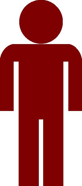 Maroon man symbol clip art