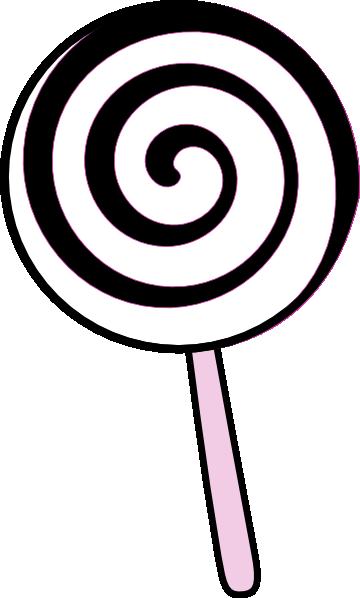 black and white lollipop clipart